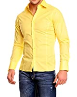 Chemise manches longues unie homme Coupe slim fit Business