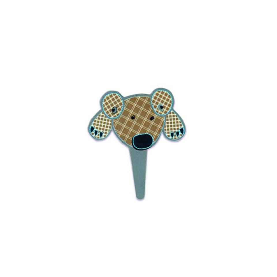 Dress My Cupcake DMC41CM 833SET Teddy Bear Face Pick Decorative Cake Topper, Baby Shower, Brown, Case of 144