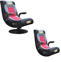 BraZen Spirit DUO 2.1 Bluetooth Surround Sound Gaming Chair - Black/Red by BraZen