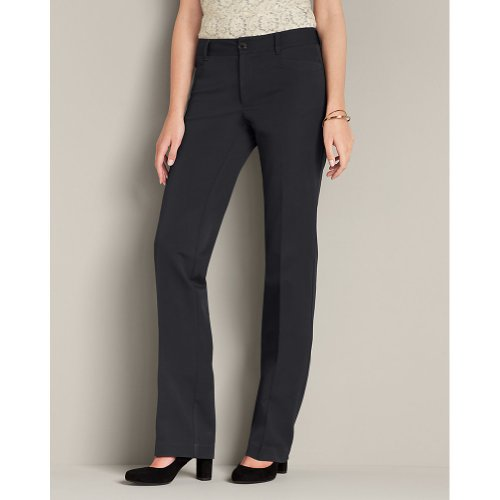 Eddie Bauer Eddie Bauer Womens Curvy StayShape® Stretch Twill Pants - Straight Leg, Graphite