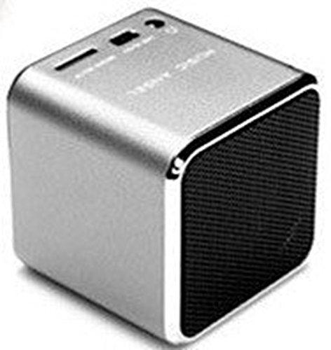 Musique Angel Mini haut-parleur multimédia Support pour carte TF U-Disk pouce du Bâton FM Radio md07u Argent