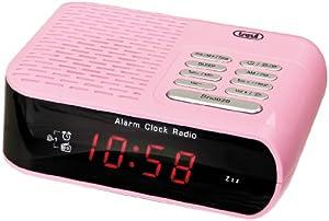 trevi rc827 electronic bedside alarm clock with am electronics. Black Bedroom Furniture Sets. Home Design Ideas