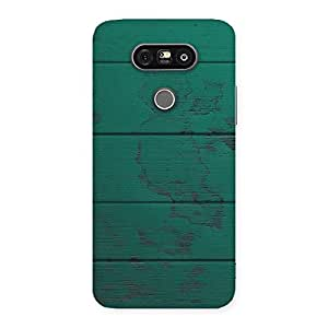Stylish Green Wood Texture Print Back Case Cover for LG G5