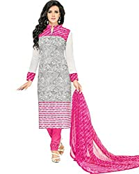 ShivFab Present All New Formal Wear Embroidered White Color Dress Meterial.(COTTON DRESS) ANGROOP DAIRYMILK VOL_10