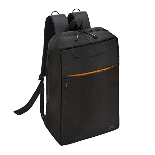 rivacase-regent-backpacks-black-orange-polyester-front-pocket-zip-pocket