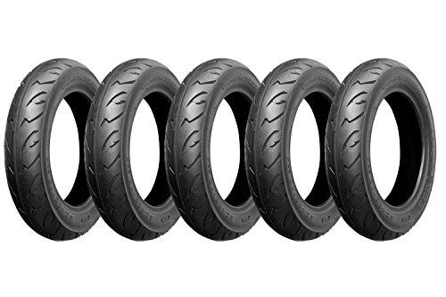 【高品質 バイクタイヤ】80/100-10  T/L 5本セット□