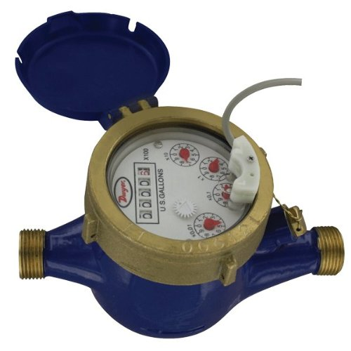 Dwyer® Multi-Jet Water Meter With Pulsed Output, Wmt2-A-C-01-1, Economical, Brass Body, Dry Dial