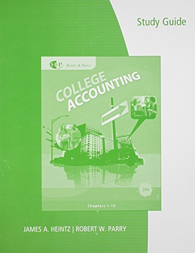 STUDY GUIDE: College Accounting: Chapters 1-15: with...