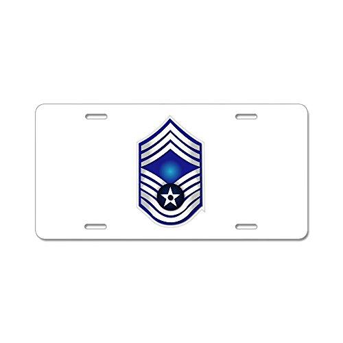 CafePress - USAF - CMSgt(E9) - No Text Aluminum License Plate - Aluminum License Plate, Front License Plate, Vanity Tag (Usaf Retired License Plate Frame compare prices)