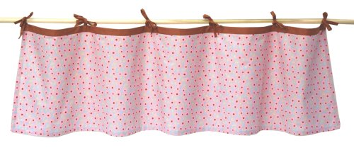 Tadpoles Field of Flowers Tie-Top Window Valance in Pink and Periwinkle