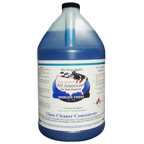 All American Car Care Products Blue Glass Cleaner Concentrate (1 Gallon)