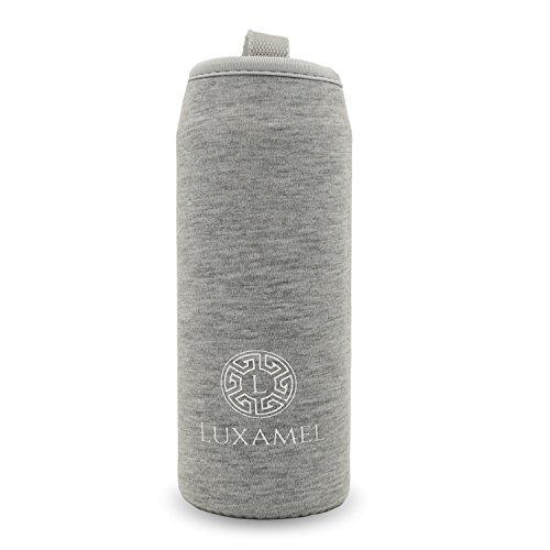 luxamel-thermohulle-nylon-sleeve-fur-teeflasche-in-450ml-grosse-thermohulle-450ml-grau