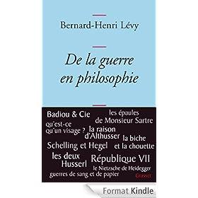 De la guerre en philosophie (Essais Fran�ais)