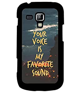 Fuson Premium Your Voice Metal Printed with Hard Plastic Back Case Cover for Samsung Galaxy S3 Mini i8190