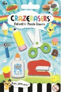 Collectible Puzzle Erasers Crazerasers. Desk Set Series 2. 4 Pieces Set.
