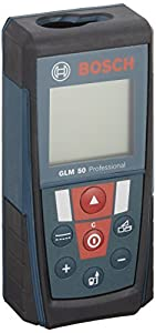 Bosch GLM50 Durable Laser Distance Measurer w/165 Feet Range and Backlit Display by Bosch