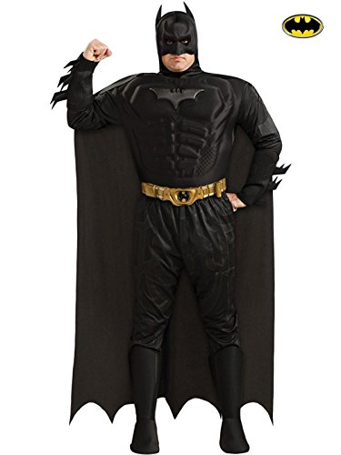 The Dark Knight Batman Deluxe Muscle Chest Costume, Plus Size, Black, Plus