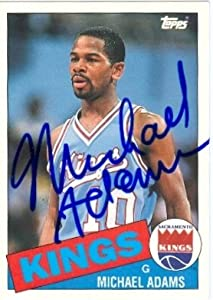 Michael Adams Autographed Hand Signed Basketball card (Sacramento Kings) 1993 Topps... by Hall of Fame Memorabilia