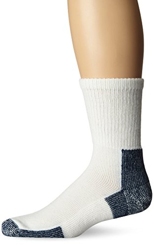 Thorlos Unisex Running Thorlo Running Crew Socks - White/Platinum, Medium