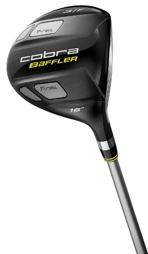 Cobra Baffler T-Rail Fairway Wood (Men's Left-Handed, 16 Degree 3 Wood, Graphite Design Tour AD Graphite Shaft, Regular Flex)