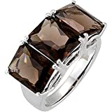Sterling Silver 10 x 8 MM Smoky Quartz Ring