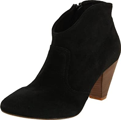 Steve Madden Women's Pita Ankle Boot,Black Suede,9 M US