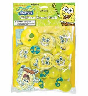 SpongeBob Favor Pack - 48/Pkg.