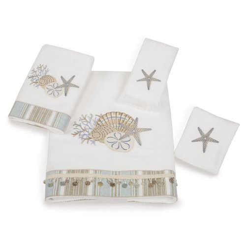 Avanti Linens By The Sea Hand Towel, White , New, Free