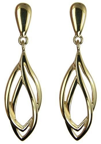 9ct Yellow Gold Ladies' Fancy Drop Earrings