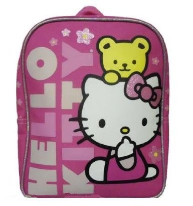 "Hello Kitty with Bear Pink 10"" Mini Backpack - 1"