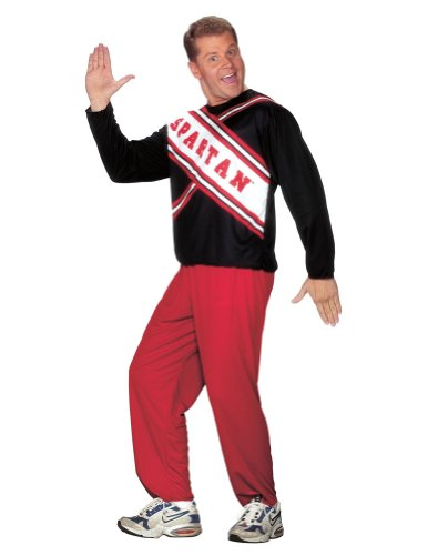 Cheerleader Spartan Guy Adult Mens Costume
