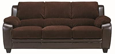 Coaster Home Furnishings 502811 Casual Sofa, Chocolate