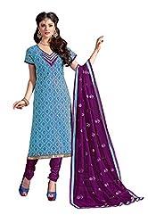 Khoobee Presents Chudidar Dress Material(Blue,Wine)