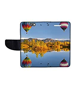 KolorEdge Printed Flip Cover For HTC One A9 Multicolor - (1478-50KeMLogo10913HTCA9)