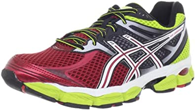 ASICS Men's Gel-Cumulus 14 Running Shoe,Red/White/Lime,7.5 M US