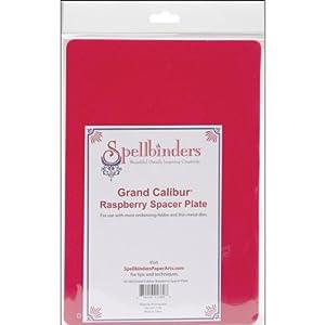 Spellbinders GC-003 Spacer Plate, Large, Raspberry