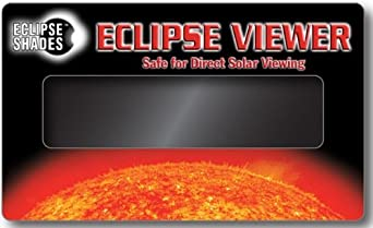 Solar Eclipse Viewer For Also Viewing Sunspots, Solar Flares, Transit of Venus 2012-3 inches x 5 Inches (5 Pack) Hand-held Card