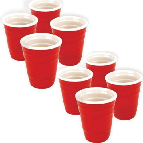 Mini Red Cup Shots, Set of 8