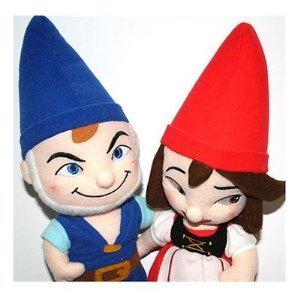 "Disney Gnomeo & Juliet Complete Set Garden Gnome 12"" Figure Plush Doll"
