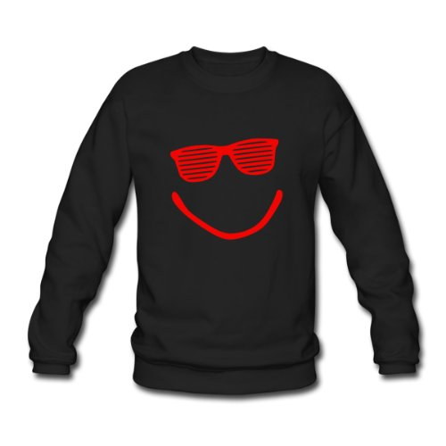 Spreadshirt, Big Smile - Smiley - Sonnenbrille - sunglasses - shutter shade, Men's Sweatshirt, black, XXL