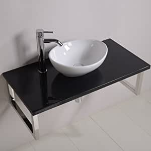 schiff 900 waschkommode mit waschbecken f r g ste wc. Black Bedroom Furniture Sets. Home Design Ideas