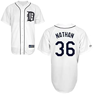 Joe Nathan Detroit Tigers Home Replica Jersey by Majestic by Majestic