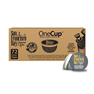 San Francisco Bay Coffee, Decaf French Roast, 72 OneCup Single Serve Cups