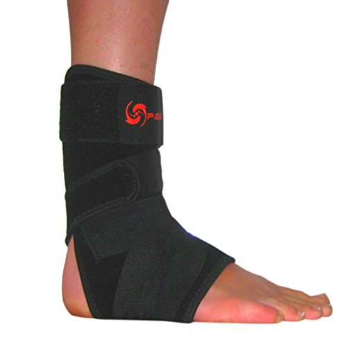 Ankle-Brace-by-PES-Adjustable-Comfortable-Compression-Best-Support-Foot-Stabilizer-for-Athletics-Reducing-risk-of-Injury-Sprain-Recovery-Joint-Pain-and-More