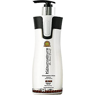 Keratin Cure 0% Formaldehyde Brazilian Hair treatment Chocolate Max Bio-Brazilian Repair-Straightener Professional 460ml 15 fl oz