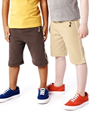 2 Pack Pure Cotton Drawstring Shorts with StayNEW™