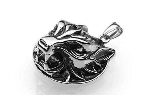 Tempi di consegna 6-12 giorni - Ciondolo in acciaio inox Ciondolo in acciaio inox amuleto leone tigre cacciatore gatto Wildcat Men 3
