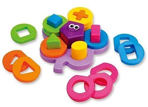 Baby Shape Sorts Colors Board Preschool Early Developmental Educational Flower Geometric Block Puzzle Toys Christmas Gift for Kids Children Toddler Boy Girl
