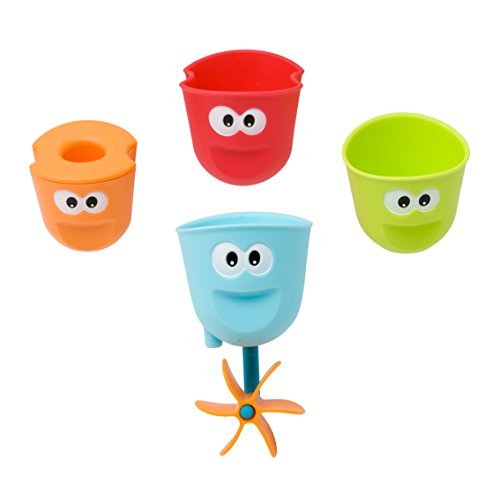 Baby Bath Toy – Flow N Fill Spout – Three Stackable Cups And Automated Spout by Yookidoo