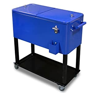 xtremepowerus 65 quart solid steel rolling